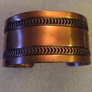 Vintages solid copper cuff